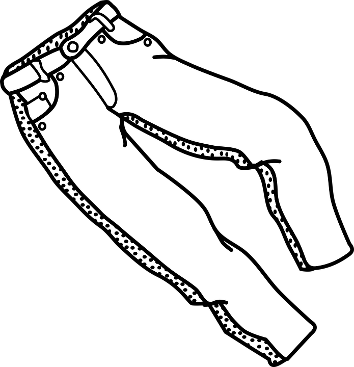 695x720 Collection Of Free Drawing Pants Black And White Download On Ui Ex