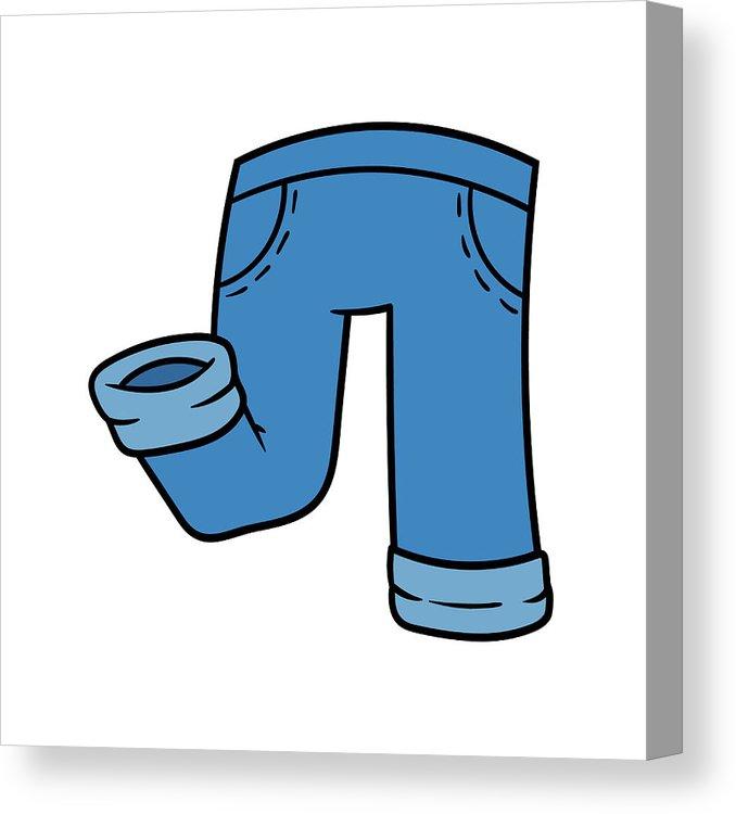 678x750 Cartoon Jeans Pants Canvas Print Canvas Art