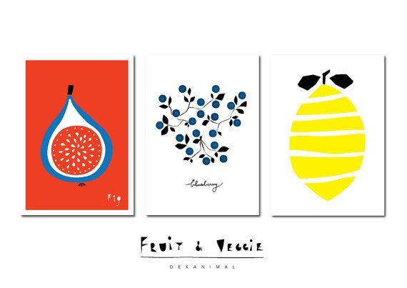 570x403 Papaya Art Print, Fruit Illustration, Kitchen Wall Decor