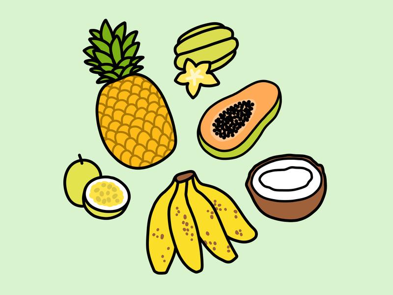800x600 Tropical Hawaiian Fruits