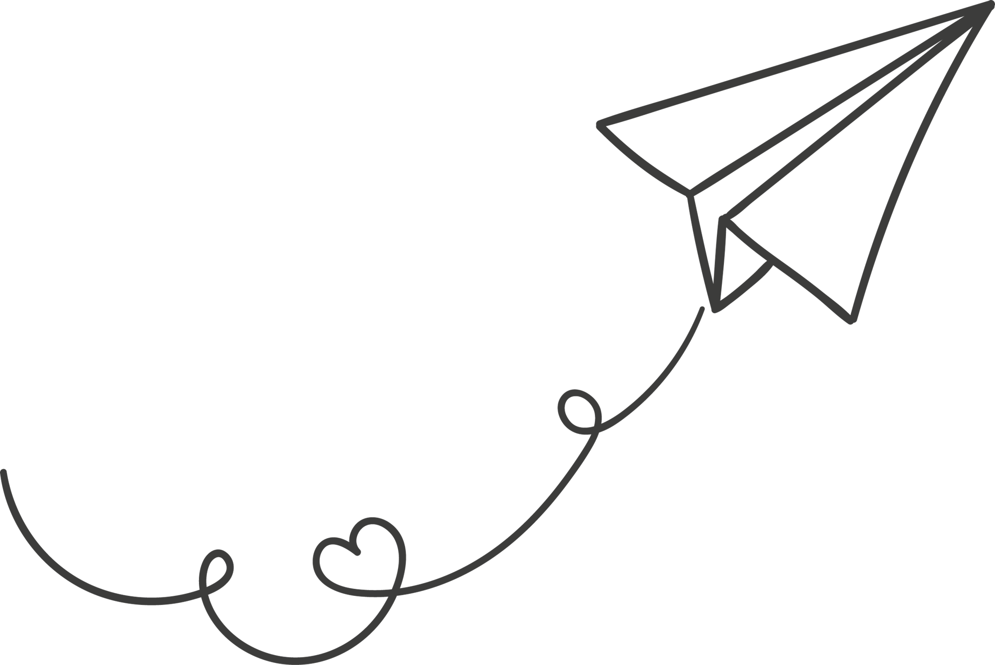 2000x1338 Paper Airplane Clipart