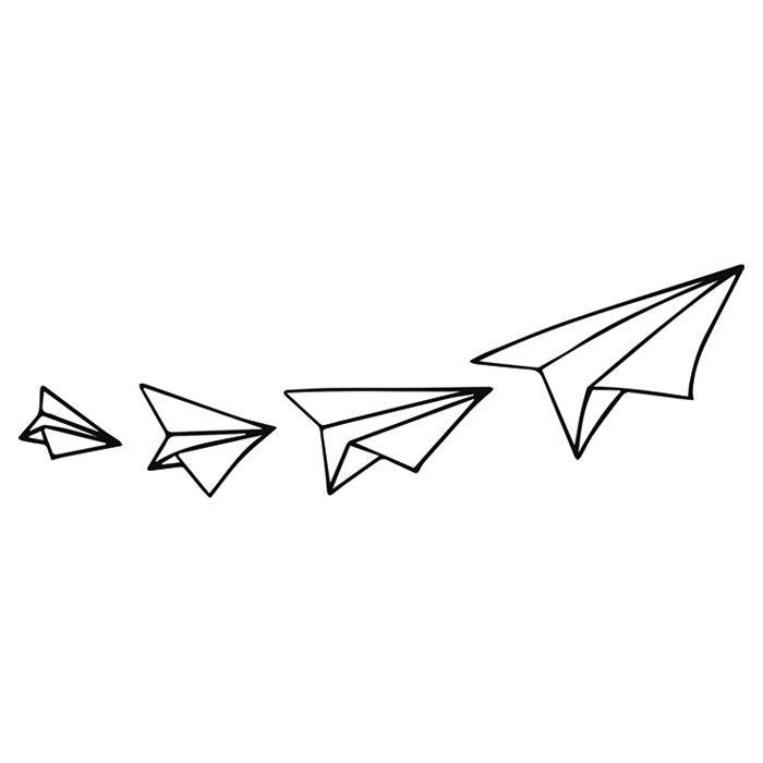 700x700 Simple Tumblr Paper Airplane Drawing