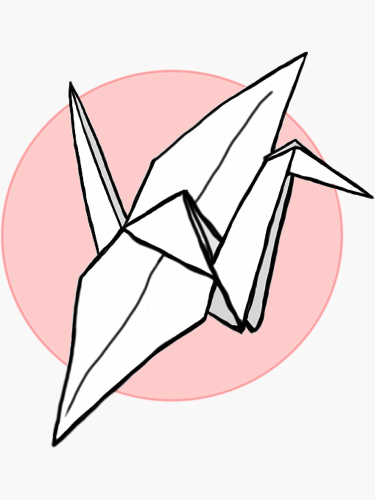 Paper Crane Drawing Free Download Best Paper Crane Drawing On