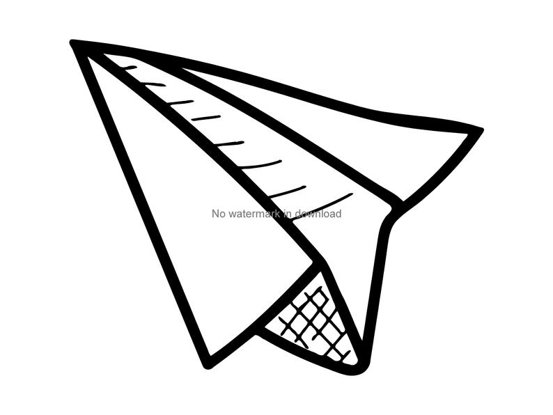 794x596 Paper Airplane Plane Clipart Paper Plane Clip Art Airplane Etsy