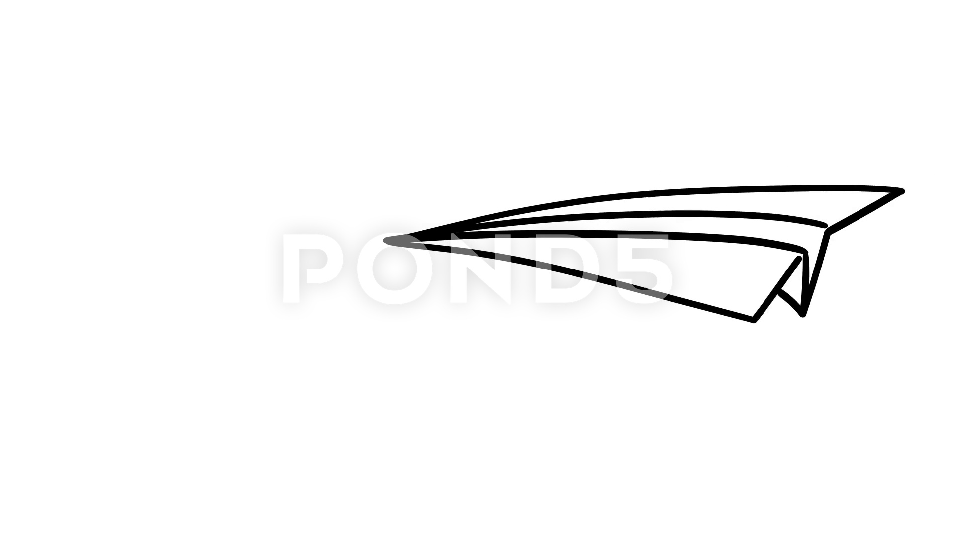 1920x1080 Paper Plane Fly Cartoon Animation Stock Video