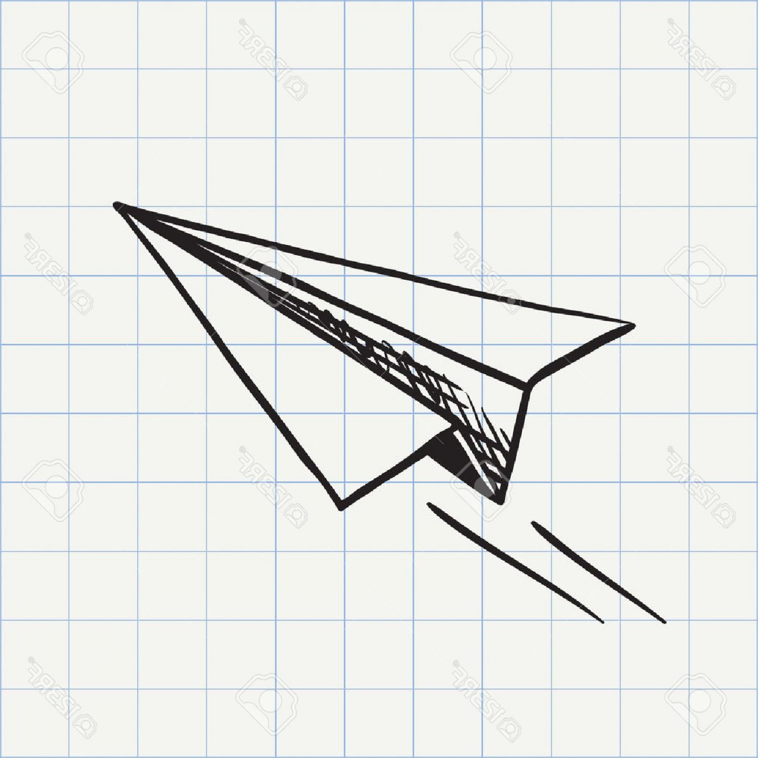 1560x1560 Photostock Vector Paper Plane Doodle Icon Hand Drawn Sketch