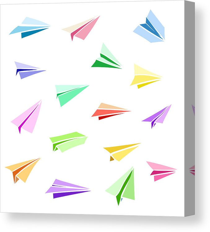 678x750 Vector Paper Airplane Travel, Route Symbol Set Of Colorful Flat