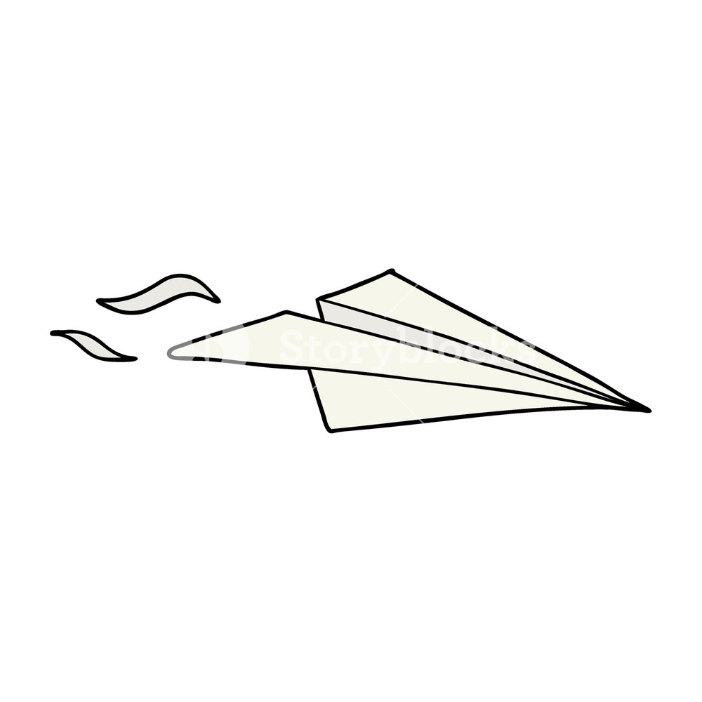 1000x1000 Cartoon Paper Airplane Royalty Free Stock Image