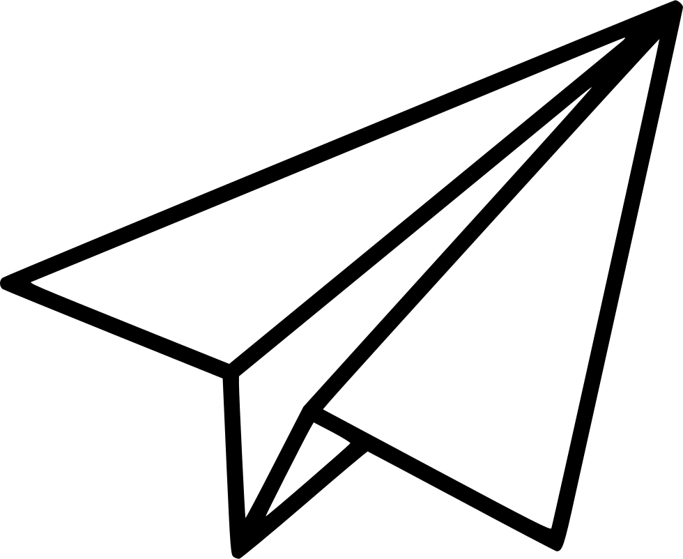 980x802 black shape paper plane clipart paper plane, plane drawing