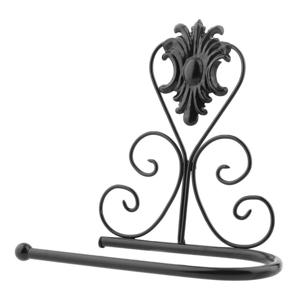1010x1010 Vintage Design Classical Iron Paper Towel Roll Holder Wall Mount