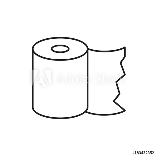 500x500 Paper Towel Icon Illustration