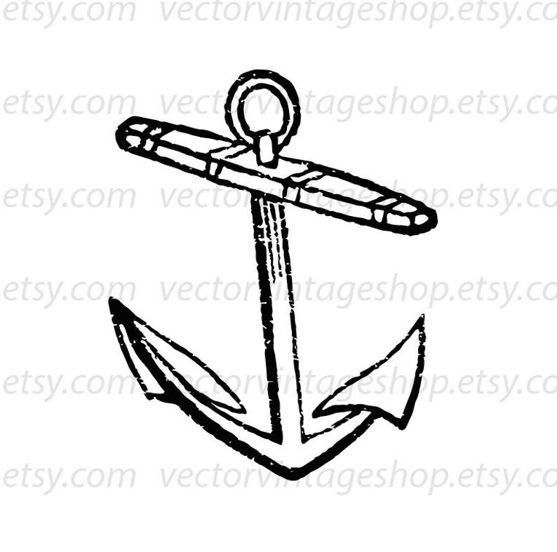 794x787 Anchor Vector Graphic Instant Download Antique Ship Tools Etsy