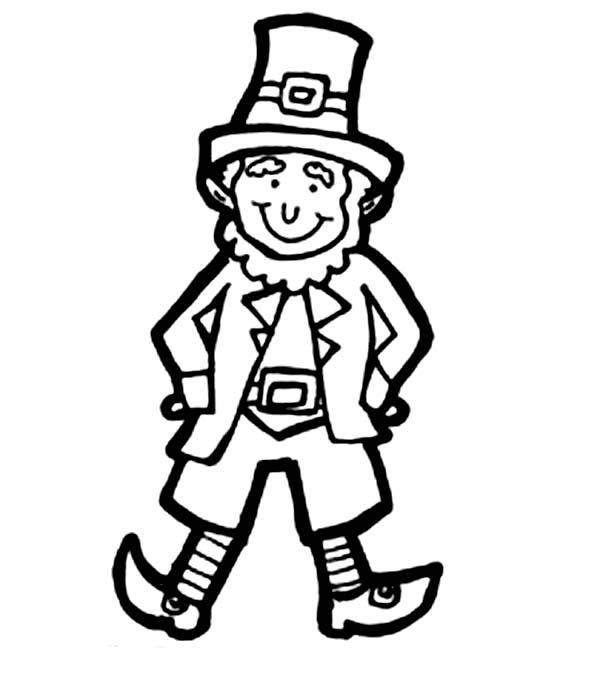 600x686 leprechaun, classic leprechaun costume for parade coloring