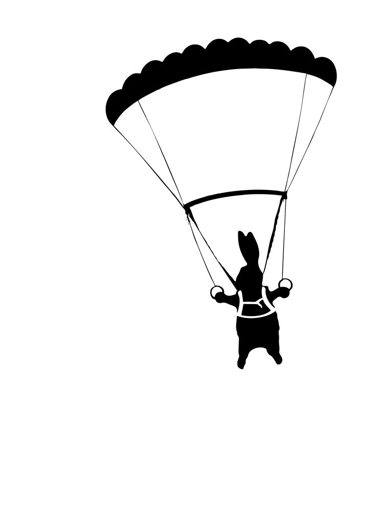 747x1000 parachute rabbit rabbit love rabbit, rabbit art, bunny art