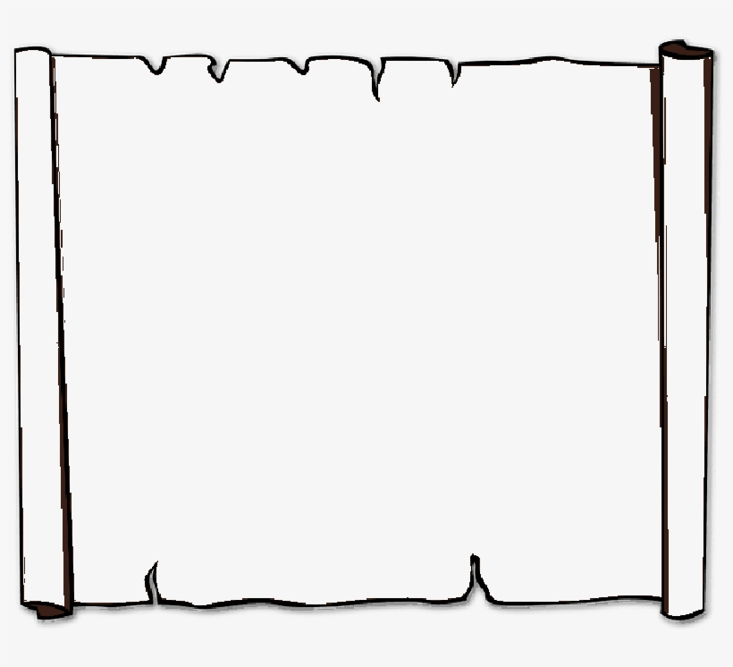 Parchment outline. Paper drawing free download