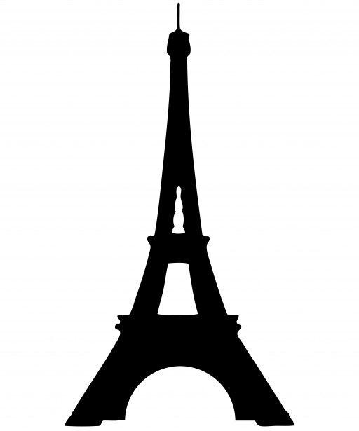 512x615 Eiffel Tower Silhouette Clipart Free Stock Photo