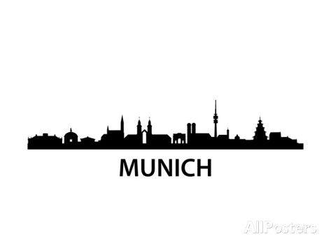 473x355 Munich Skyline Poster Von Unkreatives Bei