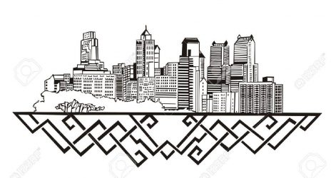 471x250 Skyline Drawing London Chicago City Simple Easy How