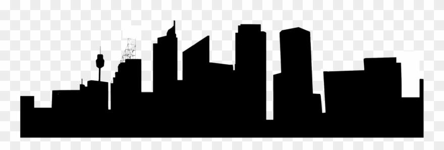 880x297 Sydney Skyline Silhouette Drawing