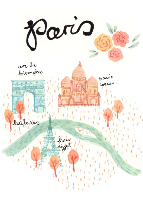 490x693 new york and paris ilustraciones paris illustration, paris