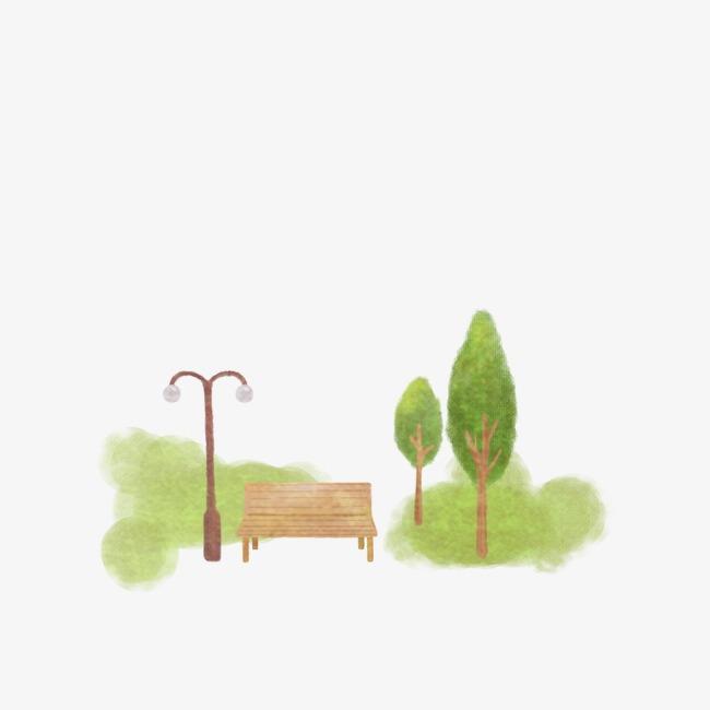 650x650 park bench, park trees, park png clipart image