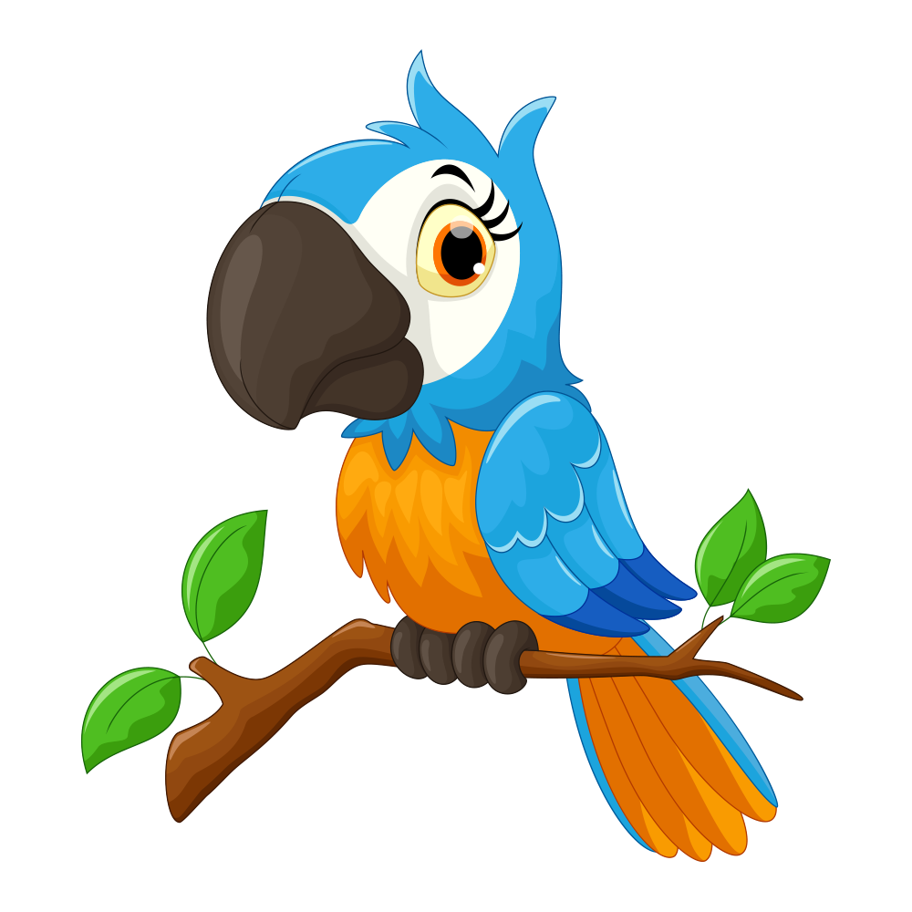 1000x1000 Collection Of Free Parrot Drawing Tree Download On Ui Ex