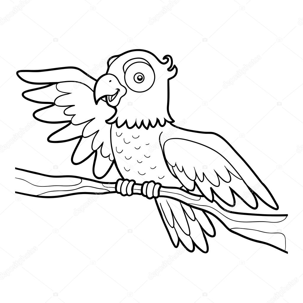 Parrot Line Drawing