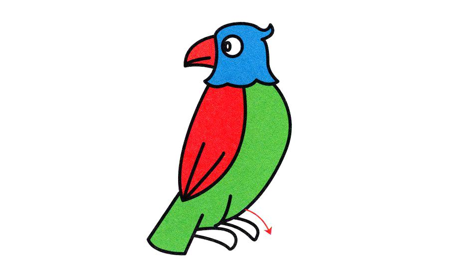900x558 easy parrot drawing easy parrot drawing easy parrot drawing step