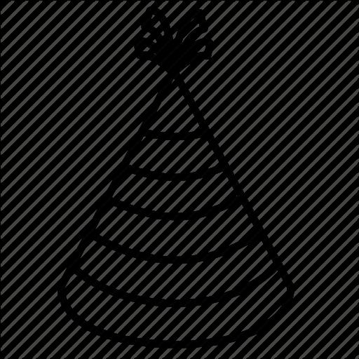 512x512 birthday, celebration, festival, hat, party, party hat icon