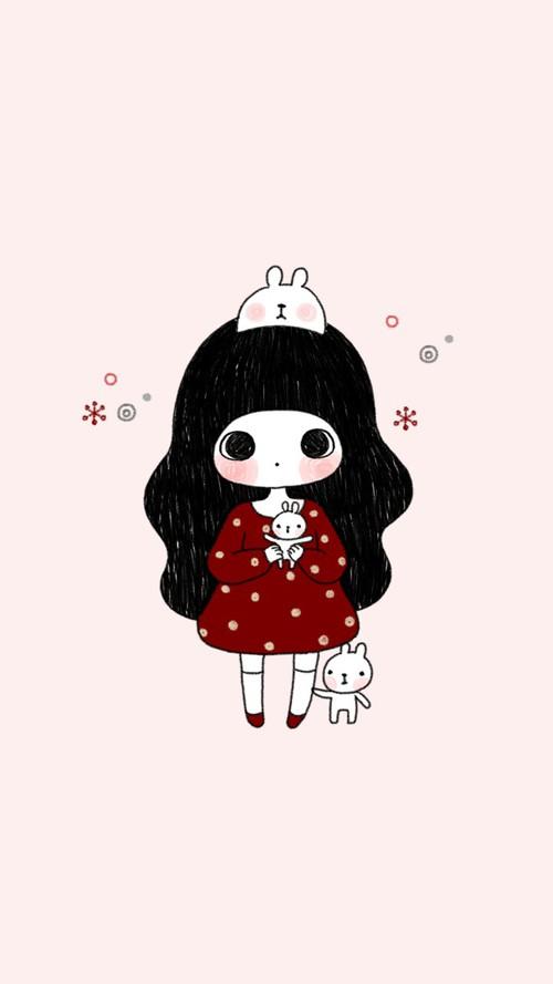 500x889 art, art girl, baby, baby doll, baby girl, background, beautiful