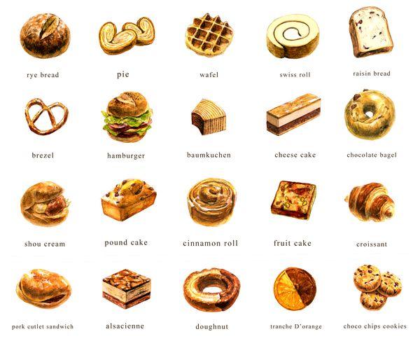 600x497 bakery menu graphic design bakery menu, food drawing