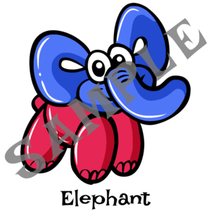 300x300 patriotic elephant twister sister balloon supplies