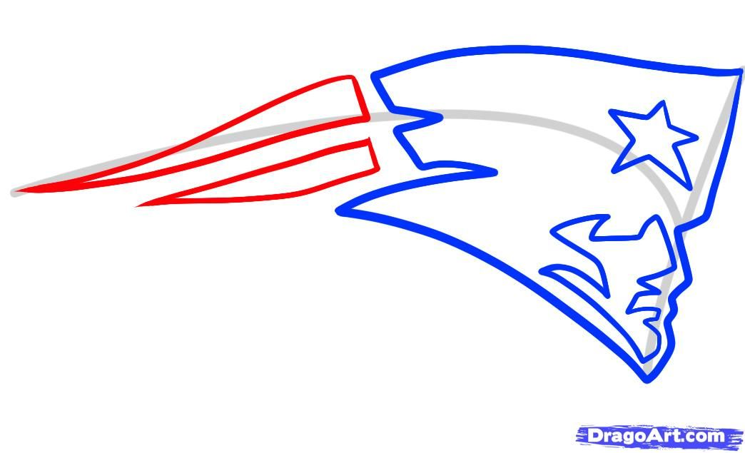 1044x635 how to draw the patriots logo, new england patriots step pats