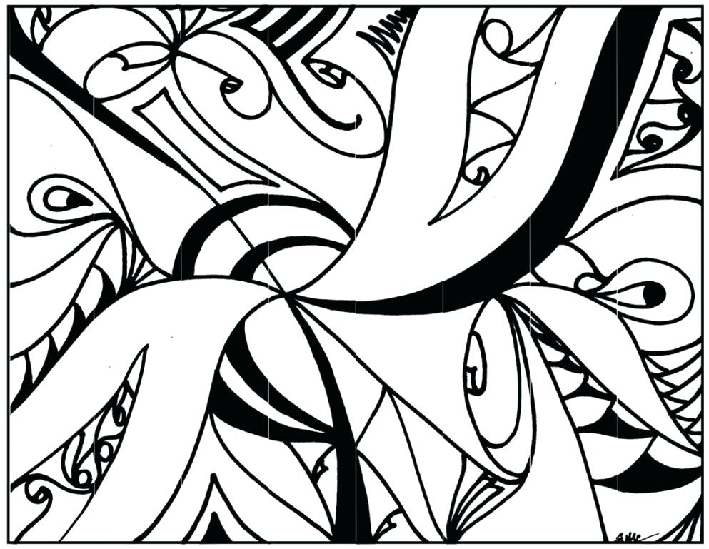 993x769 Abstract Designs Drawing To Color Design Coloring Pages Printable