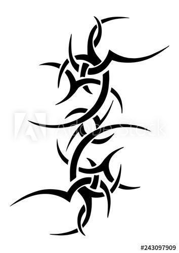 354x500 Tattoo Tribal Design, Abstract Print, Celtic Pattern, Ornament