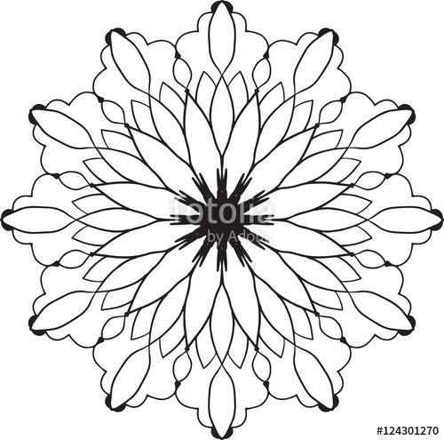 500x495 Abstract Flower Drawing Design Element Pattern Stock Image