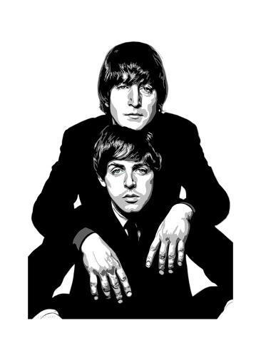 366x488 Lennon And Mccartney Giclee Print