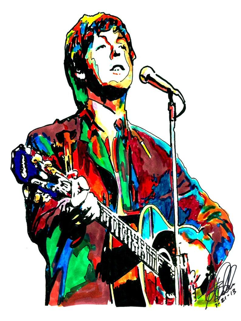794x1059 Paul Mccartney The Beatles Bass Player Yesterday Singer Etsy