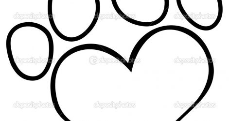 471x250 Dog Paw Drawing Easy A Puppy Free Ajedrezdeen Trenamiento