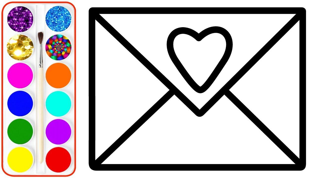 1280x720 Envelope Drawing Coloringor Kids Pages Children Maxresdefault