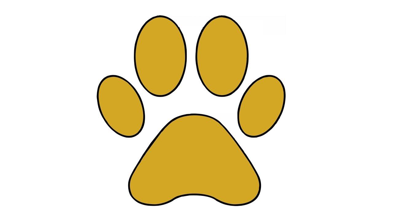 1280x720 How To Draw A Dog Paw