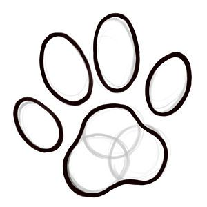 300x300 how to draw a cat paw print kittie crafty drawings, cat paw