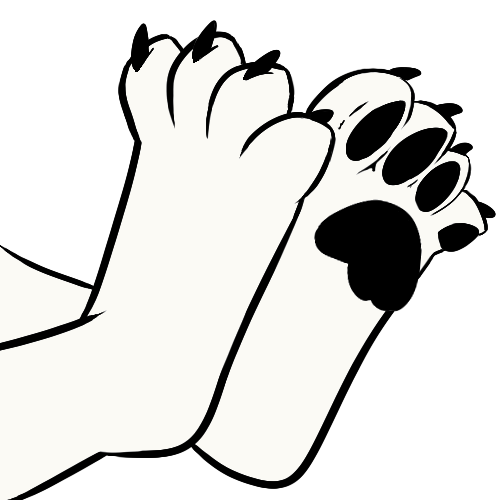 500x500 Drawing Paws Wolf Huge Freebie! Download For Powerpoint