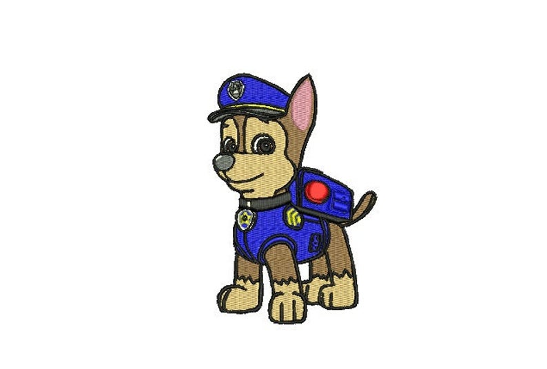 794x536 chase pow patrol machine embroidery design puppy paw patrol etsy