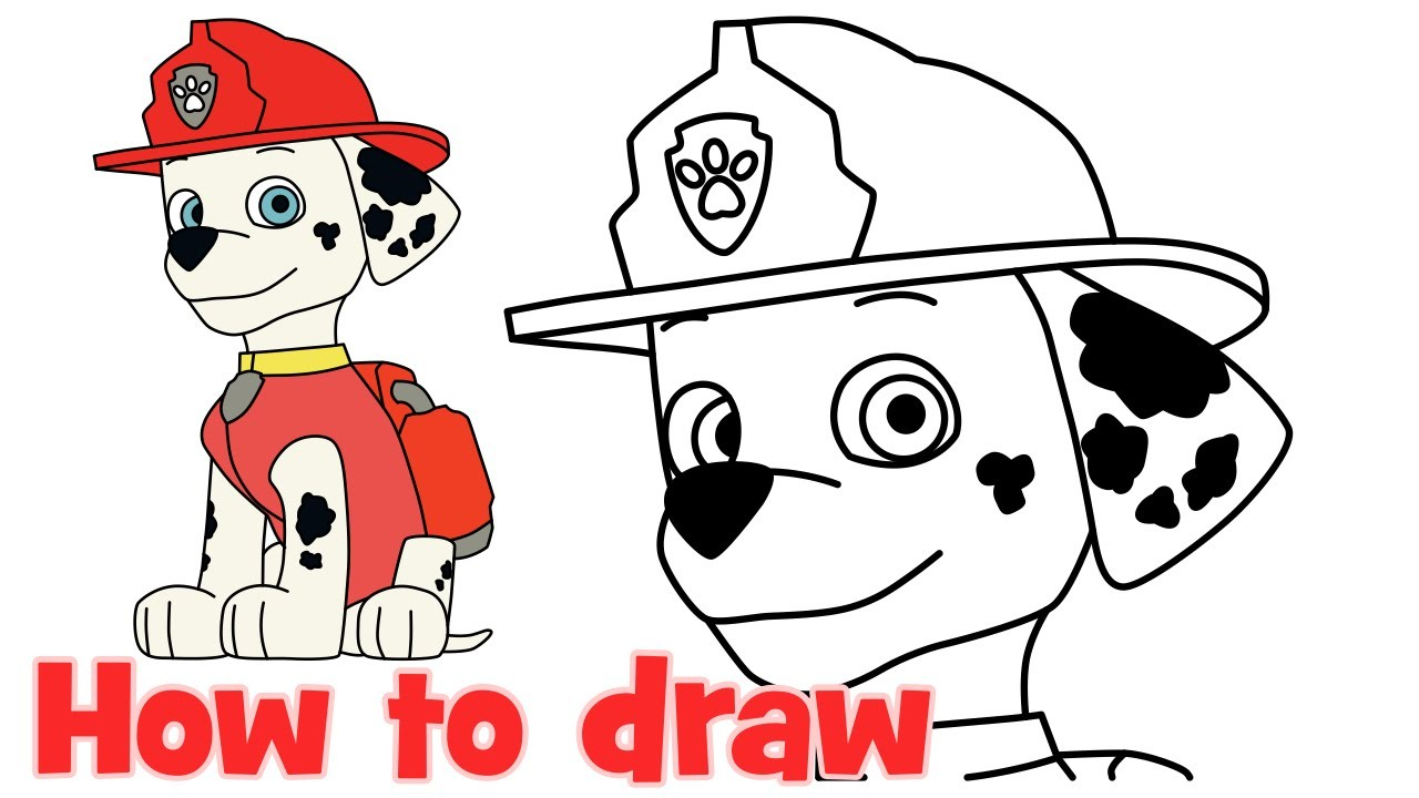Paw Patrol Drawing | Free download on ClipArtMag