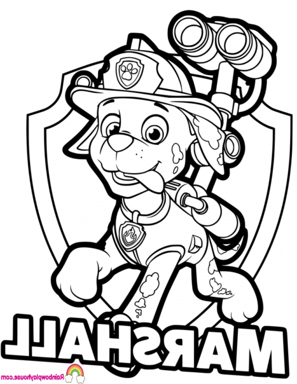 595x770 paw patrol coloring marshall coloring pages for paw patrol