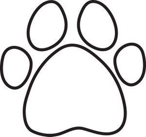 300x282 Dog Paw Print Coloring