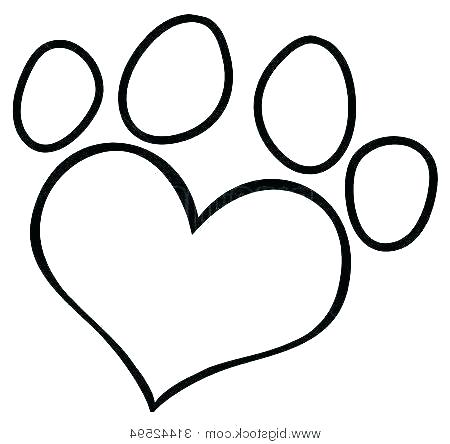 450x444 Paw Print Coloring