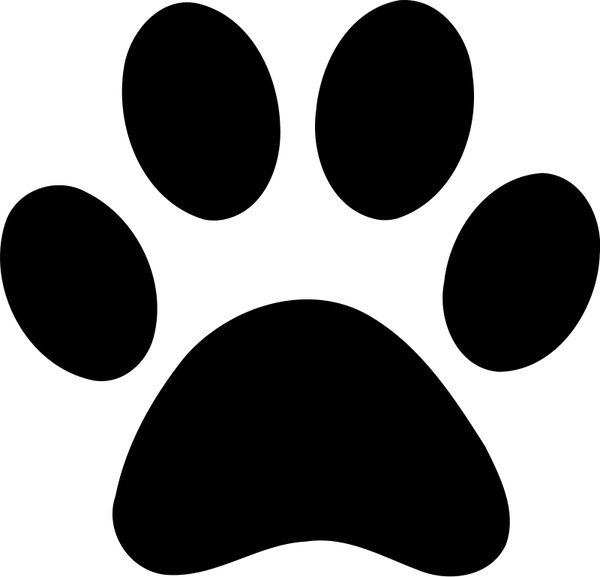 600x577 Paw Print Free Vector In Open Office Drawing