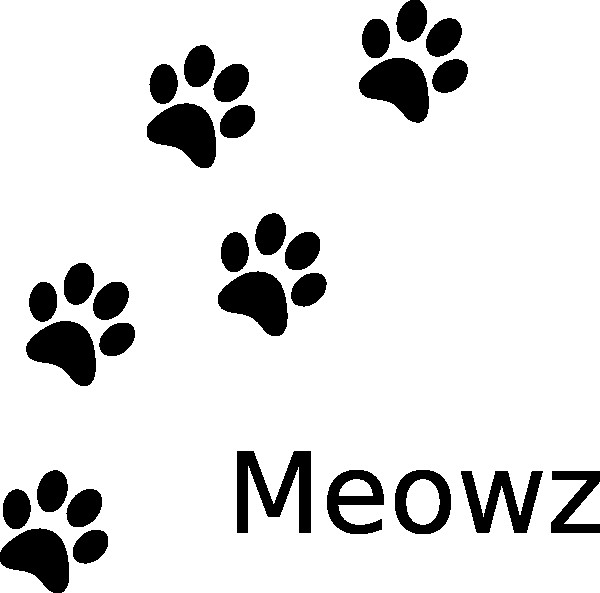 600x593 Clipart Of Cat Paw Prints